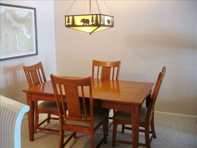 East Jordan condo rental - Dining seats 6