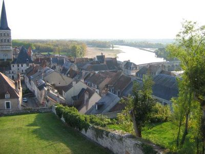 View of La Charité-sur-Loire and the Loire River taken from the ramparts.