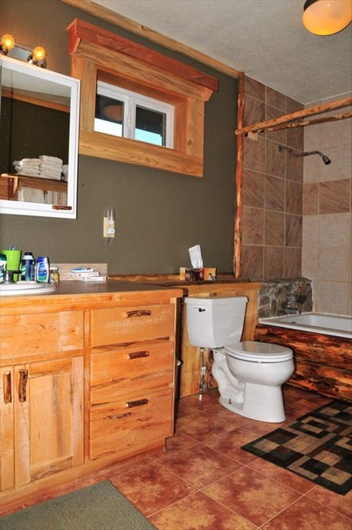 one of two bathrooms
