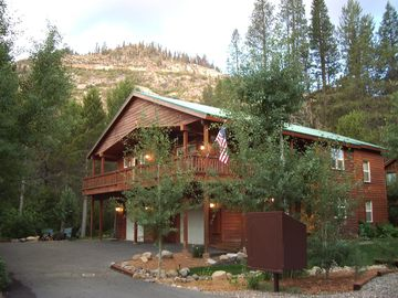 Donner Lake house rental - Setting has mountain views and backs up to wooded greenbelt.