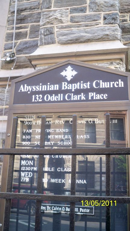 Famous landmark, Abyssinian baptist/gospel church