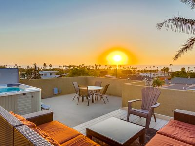 Endless sunset views from your own private roof deck oasis!
