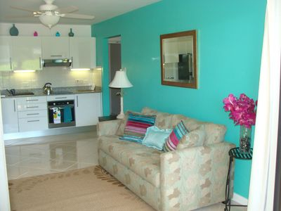 Holetown apartment rental - Lounge and Kitchen