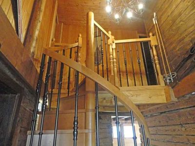 La Clusaz chalet rental - And we even have a sprial staircase!!!