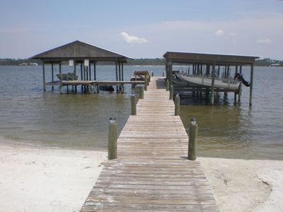 Pier extending into Little Lagoon
