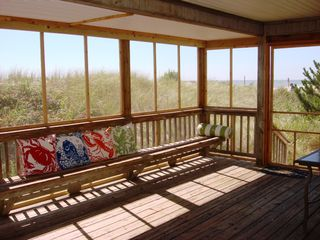 Huge screened porch on 1st flr-seats at least 18! - Brant Beach house vacation rental photo