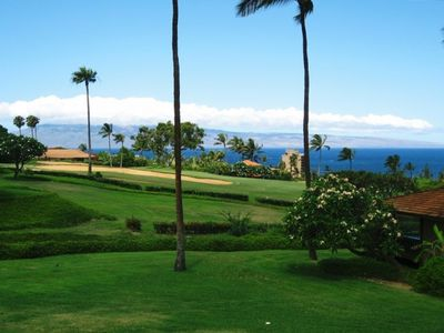 Kaanapali townhome rental - View from the Lanai of the Golf course and Ocean