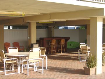 Pool side patio and Renters bar