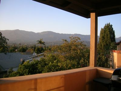 Santa Barbara house rental - The Casita with a stunning view of the city and mountains