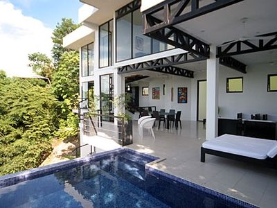 Manuel Antonio house rental - View from the Pool to Main Living Area-Fabulous SoBe Ambiance