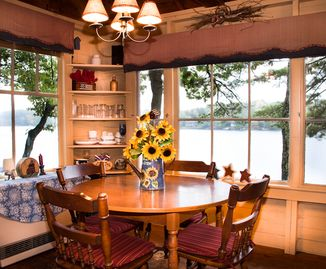 Dining Area-A table for food, games, and conversation. Oh - and the VIEW!