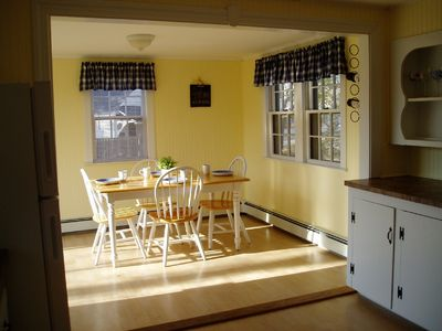 South Yarmouth house rental - Dining room with slider to deck