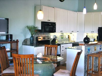 Renovated kitchen has new appliances, dishes, silverware and artistic touches!