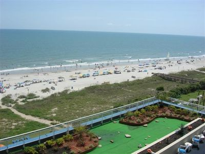 Dunes Village condo rental - Southern View of the Ocean and Beach from the Condo Balcony