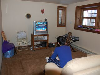 Great Barrington cabin photo - Wii Game Room Area includes games like Wipeout, Wheel of Fortune, & Sports Games