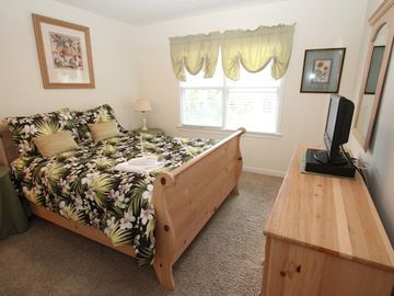 Bedroom 3 provides brand new bedding and flat screen TV!