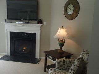 Laconia townhome photo - 52 inch with blu-ray dvd.