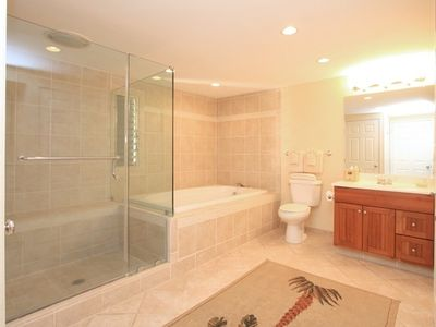 Front Bathroom with Soaking Tub and and Walk-in Shower.