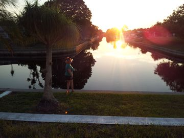 Englewood house rental - View from our Florida Room...daily sunsets are amazing