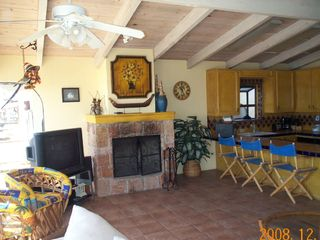 Las Gaviotas house photo - Living Room and kitchen