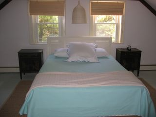 Orleans house photo - One of upstairs bedrooms with queen bed and room for cribs