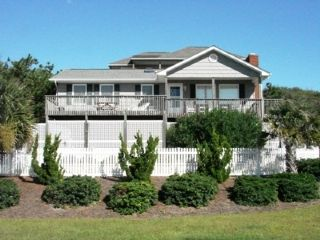 Emerald Isle cottage rental - Exterior shot from dead end street