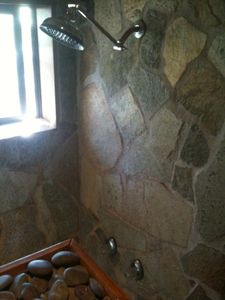 Large Stone Shower in Upper Level Master Suite.