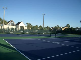 St. Augustine Beach condo photo - Two of Four Tennis Courts