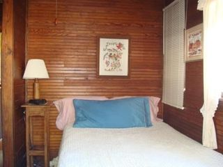 South Haven cottage photo - Double Room with Built in Storage. 2 Windows Capture Lake Breezes