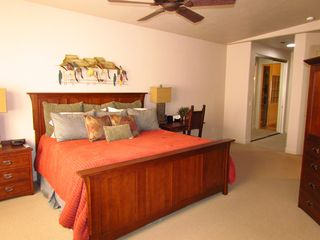 St. George townhome photo - Large Master Bedroom With King Bed & TV & Large Closets