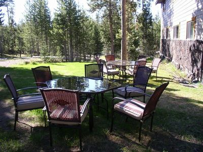 Lawn area for volleyball, croquet, etc - seating for 12. Island Park, Idaho