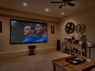 Scottsdale house photo - HUGE theater screen in movie room