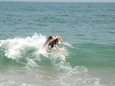 Great skim boarding!