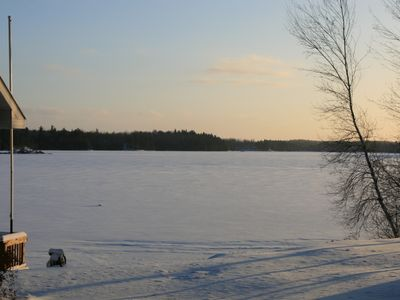 Edwards house rental - Ice covered lake.