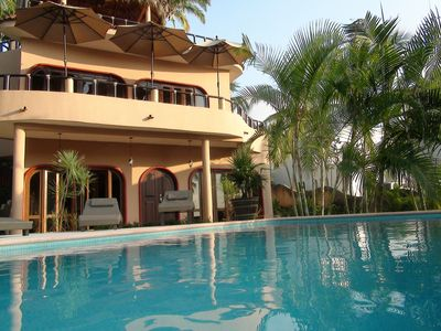 Visa Celeste seen from pool