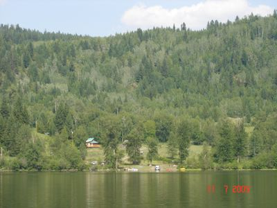 View of the lake side cottage and private lake front (cabin 1)