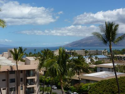 The West Maui Mountains and Maalaea Harbor enhance the 180 view to the north