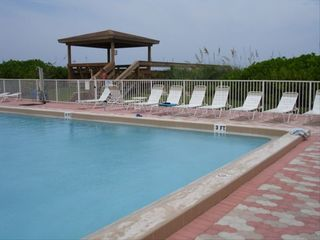 Hutchinson Island condo photo - Pool area + walkway to beach