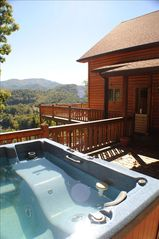 Watauga Lake cabin photo - View from hot tub and bbq area
