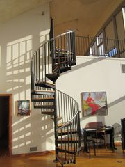 Roxbury house photo - Spiral staircase that brings you to the top of the world! Well sort of!
