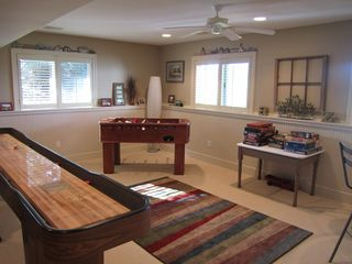 Game Area in Family Room - Saugatuck / Douglas townhome vacation rental photo