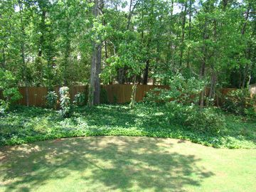 Private backyard with lots of hardwoods!