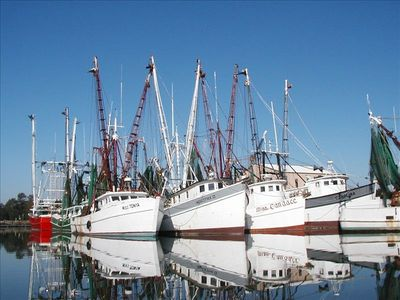 Just one block from the scenic shrimp boat fleet and great seafood markets