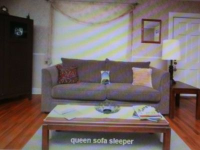 This sofa has a queen bed