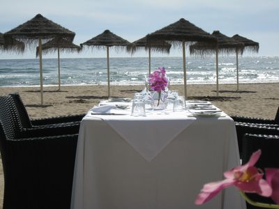 Fabulous dining on the local beaches