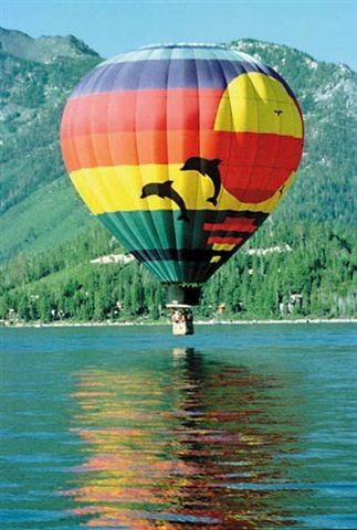 See Lake Tahoe from the hot air balloon flights