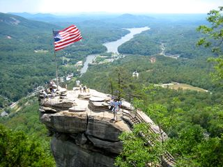 Black Mountain lodge photo - Chimney Rock and Lake Lure. 30 minute drive from home.