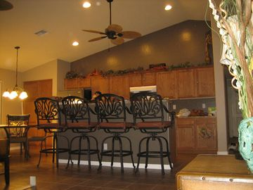 Maricopa house rental - Stunning kitchen with high vaulted ceilings. You will love the great open space
