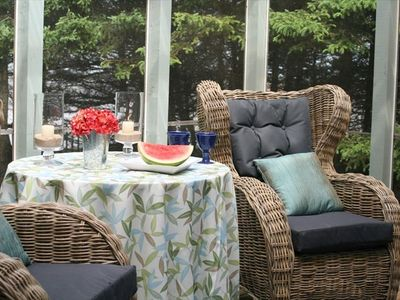 Large screened in living space overlooking the cove....perfect for lounging..