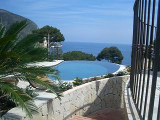 Eze villa photo - Infinity pool facing south